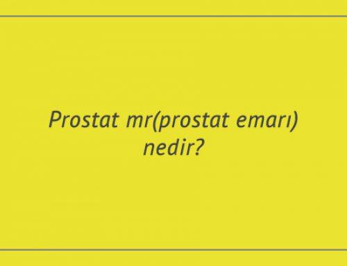 Prostat mr(prostat emarı) nedir?