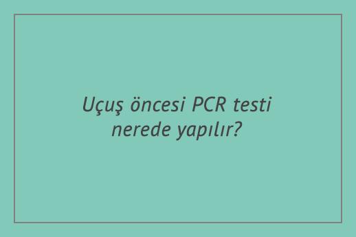 Uçuş öncesi PCR testi nerede yapılır? Yurtdışı / Yurtiçi