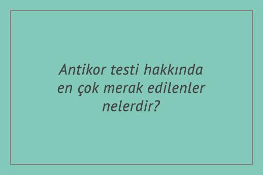 Antikor testi hakkında en çok merak edilenler nelerdir?