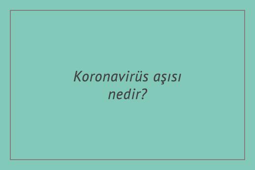Koronavirüs aşısı nedir?